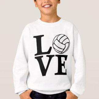 Volleyball LOVE, black Sweatshirt