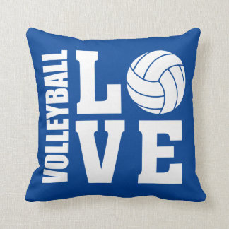 Volleyball Love Blue Cushion