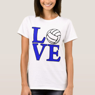 Volleyball LOVE, blue T-Shirt