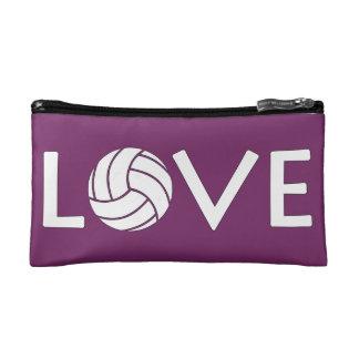 Volleyball Love Customizable Cosmetics Handbag Makeup Bags