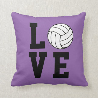 Volleyball Love Customizable Throw Cushion