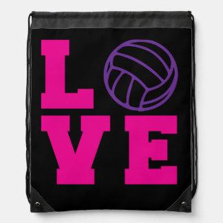 Volleyball Love Drawstring Bag