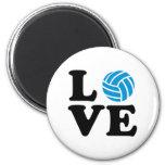 Volleyball love fridge magnet