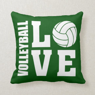 Volleyball Love Green Cushion