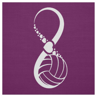 Volleyball Love Infinity Purple Fabric