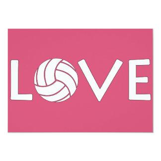 Volleyball Love 13 Cm X 18 Cm Invitation Card