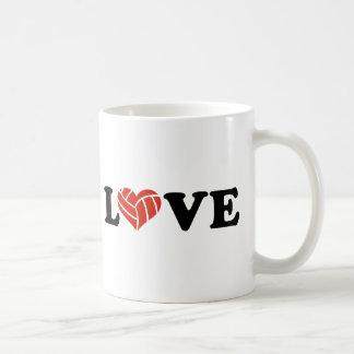 Volleyball love coffee mugs