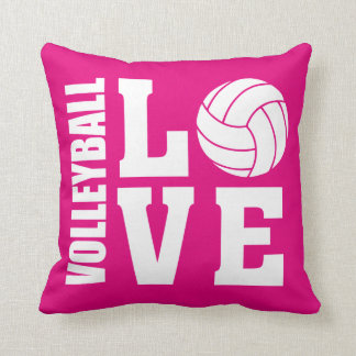 Volleyball Love Pink Cushion