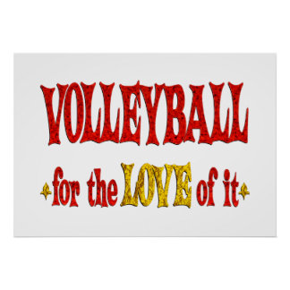 Volleyball Love Poster