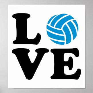 Volleyball love print