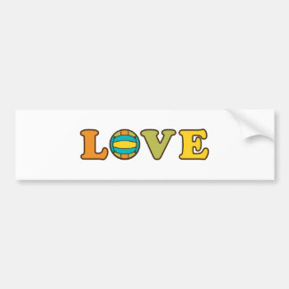 Volleyball Love Sport Bumper Sticker