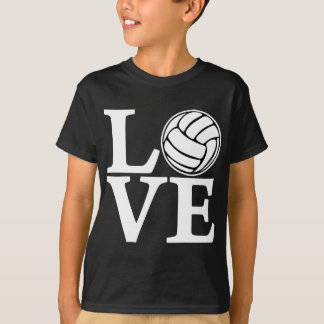 Volleyball LOVE, white T-Shirt