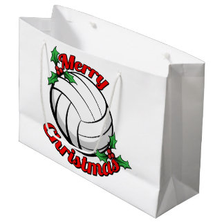 Volleyball Merry Christmas Large Gift Bag