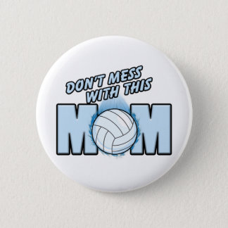 Volleyball Mom 6 Cm Round Badge
