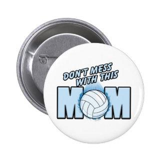 Volleyball Mom 6 Cm Round Badge
