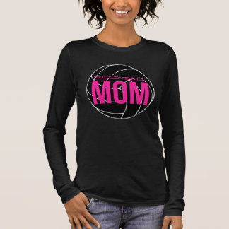 Volleyball Mom Long Sleeve T-Shirt - Girly Pink