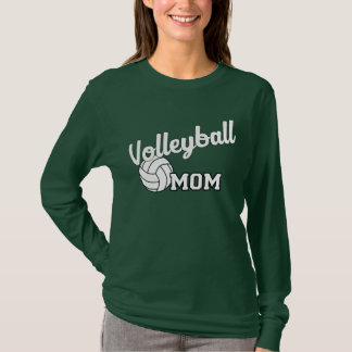 Volleyball mom long sleeved shirt - forest green