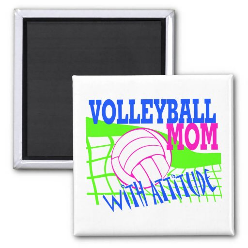 Volleyball Mom With Attitude Magnets