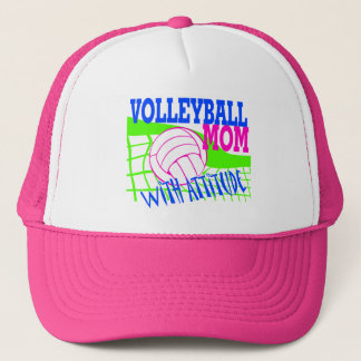 Volleyball Mom With Attitude Trucker Hat