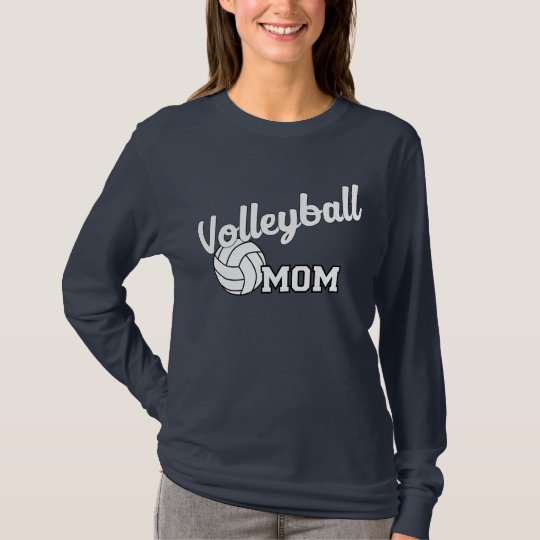 Volleyball mum long sleeved shirt - navy blue