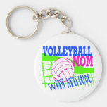 Volleyball Mum With Attitude Key Chains
