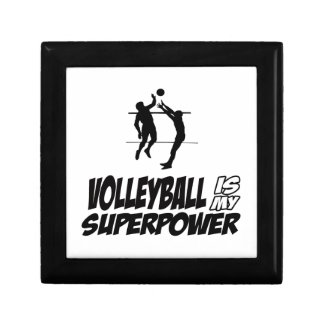 Volleyball my super power small square gift box