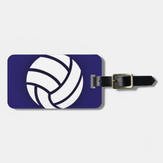 Volleyball Navy Blue Luggage Tag