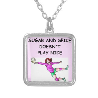 volleyball personalized necklace