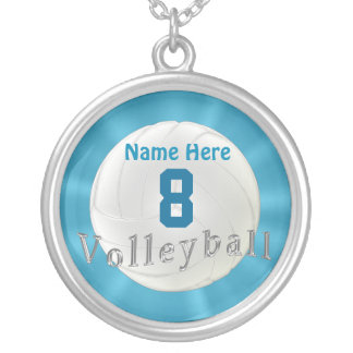 Volleyball Necklace with Number and Name