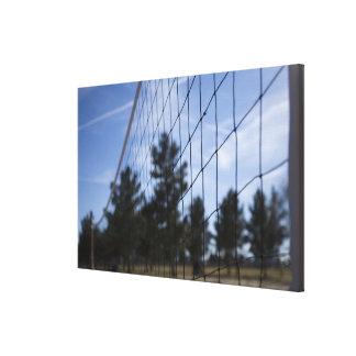 Volleyball net canvas print
