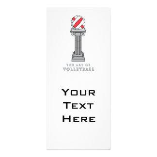 volleyball on a pedestal custom rack cards