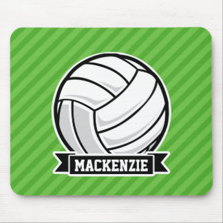 Volleyball on Green Stripes Mousepads