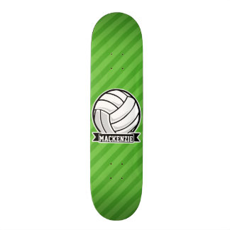 Volleyball on Green Stripes Skate Board Decks