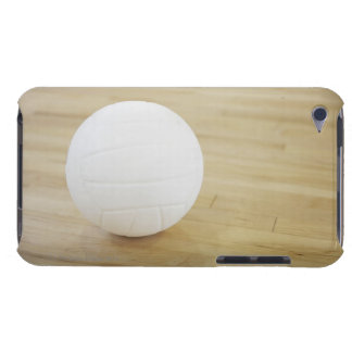 Volleyball on wooden floor barely there iPod case