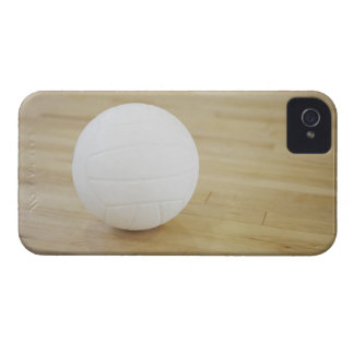 Volleyball on wooden floor iPhone 4 case