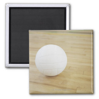Volleyball on wooden floor magnet