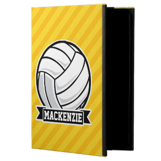 Volleyball on Yellow Stripes Case For iPad Air