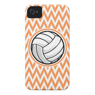 Volleyball Orange and White Chevron iPhone 4 Case-Mate Cases