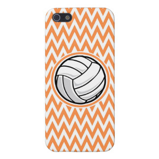 Volleyball Orange and White Chevron Covers For iPhone 5