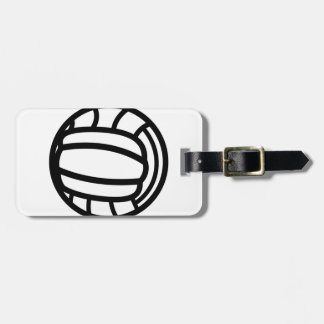 Volleyball Outline Bag Tag