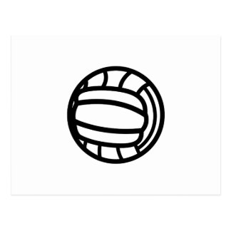 Volleyball Outline Postcard