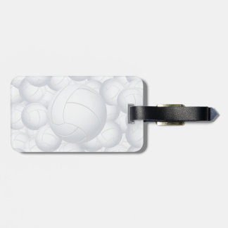 volleyball pile luggage tag