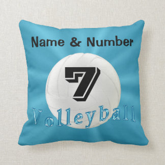 Volleyball Pillows with NAME, NUMBER and MONOGRAM