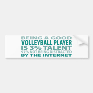 Volleyball Player 3 Talent Bumper Stickers