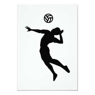 "Volleyball player 3.5"" x 5"" invitation card"