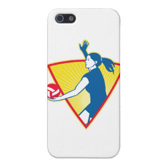 Volleyball Player Serve Ball Side Indoor Covers For iPhone 5