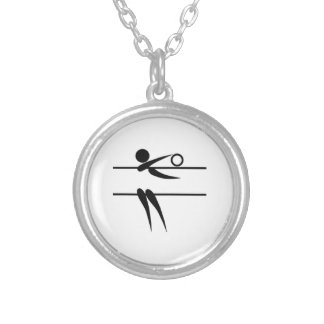 Volleyball Player Silver Plated Necklace