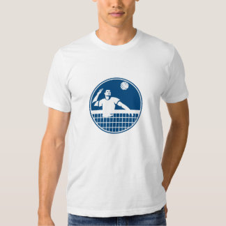 Volleyball Player Spiking Ball Circle Icon T Shirts