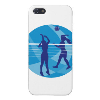 Volleyball Player Spiking Blocking Ball Indoor iPhone 5 Cases