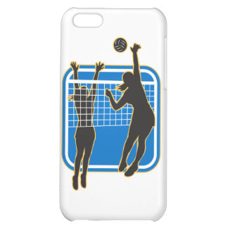 Volleyball Player Spiking Blocking Ball Indoor Cover For iPhone 5C
